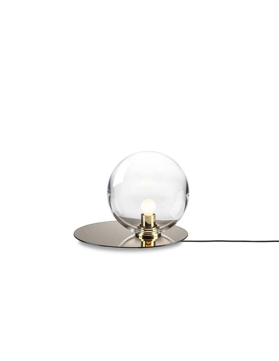 Umbra table lamp clear / polished brass