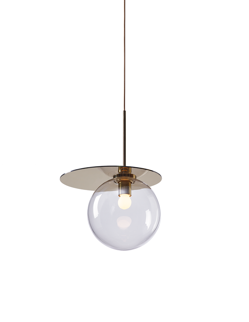 Umbra pendant clear / polished brass