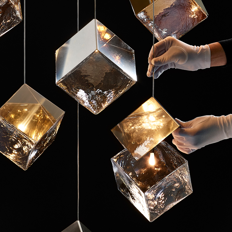 Pyrite Collection Chandelier Detail